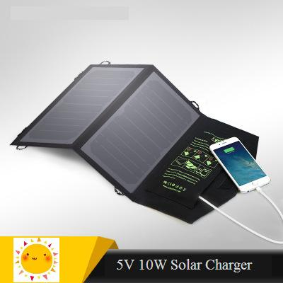 Solar charger 10W Sunpower high effencicy solar cell panel Mobile phone charger for Iphone Ipad Xiaomi Huawei etc 99% cell phone