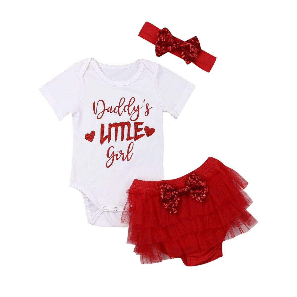 Recién Nacido bebé niña princesa Romper encaje tutú Faldas Pantalones 3 piezas conjuntos de ropa