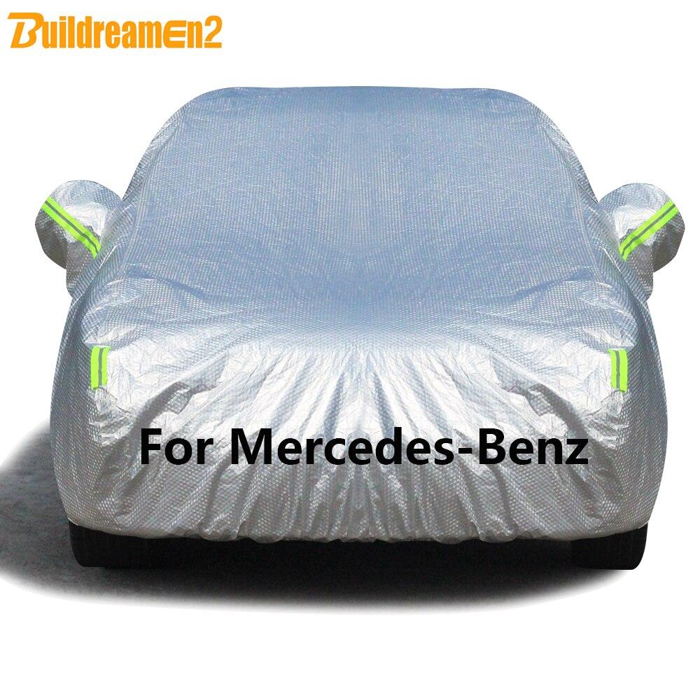 Buildremen2 gruesa cubierta del coche sol nieve lluvia proteger cubierta de algodón para Mercedes A B C E G M R GL CL CLS GL GLA GLK GLS CLK clase CLA