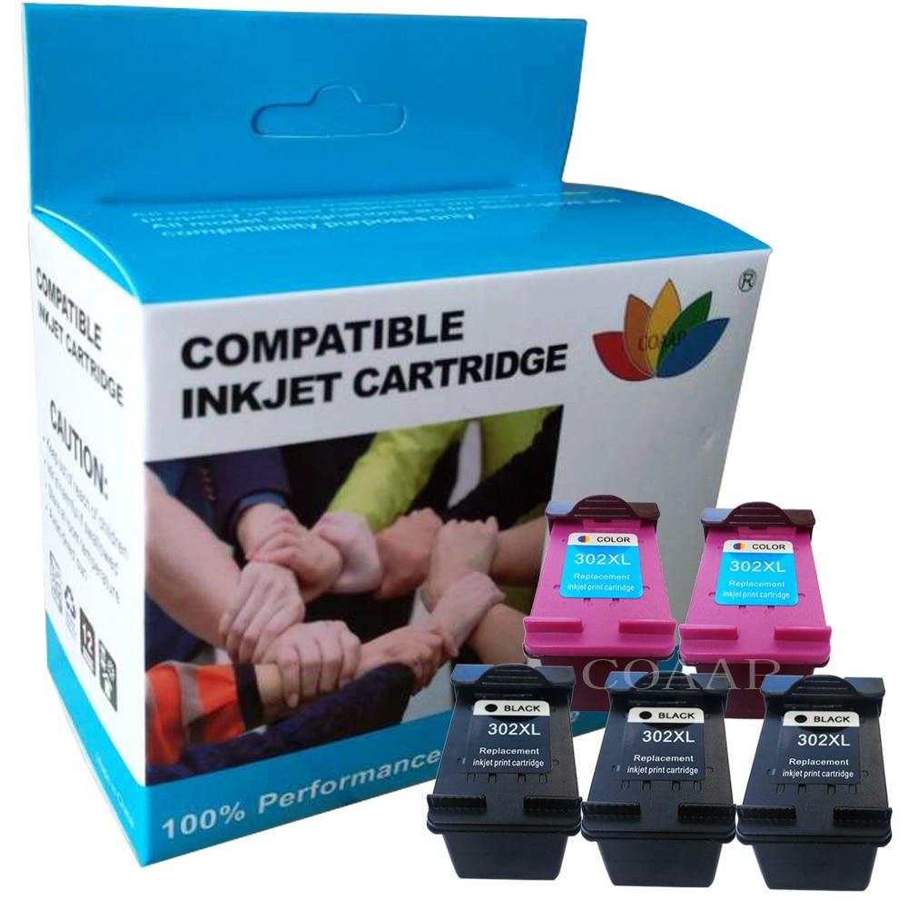 De tinta negro/Tri-Color para hp envidia 4520, 4521, 4522, 4523, 4524, 4525, 4527, 4528 impresora rellenar hp 302 cartucho de tinta