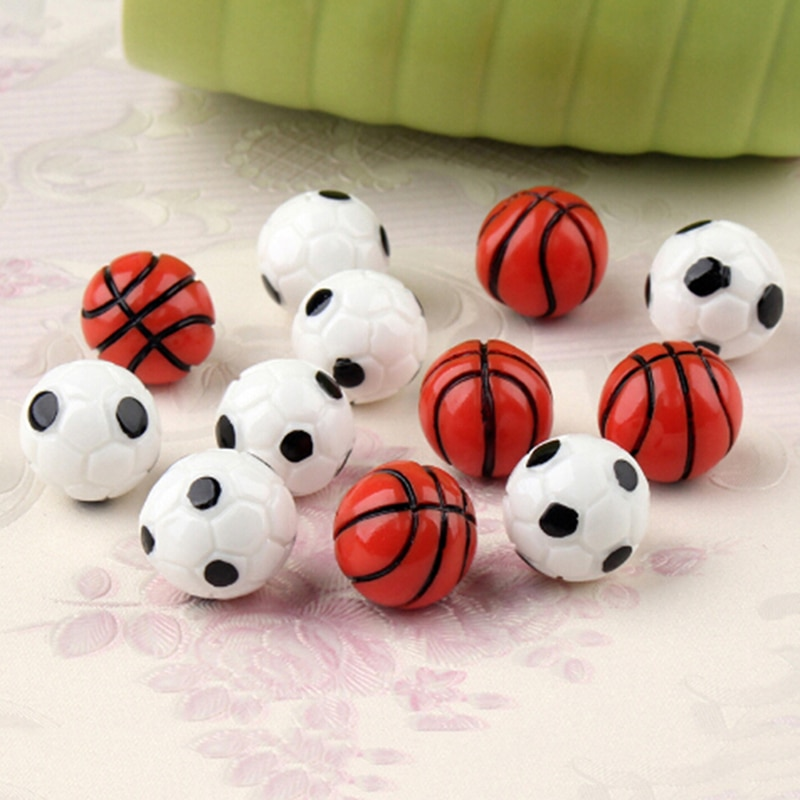 10Pcs 112 Dollhouse Miniature Sports Balls Soccer Football And Basketball Decor Doll Accessories Children Best Birthday Gift