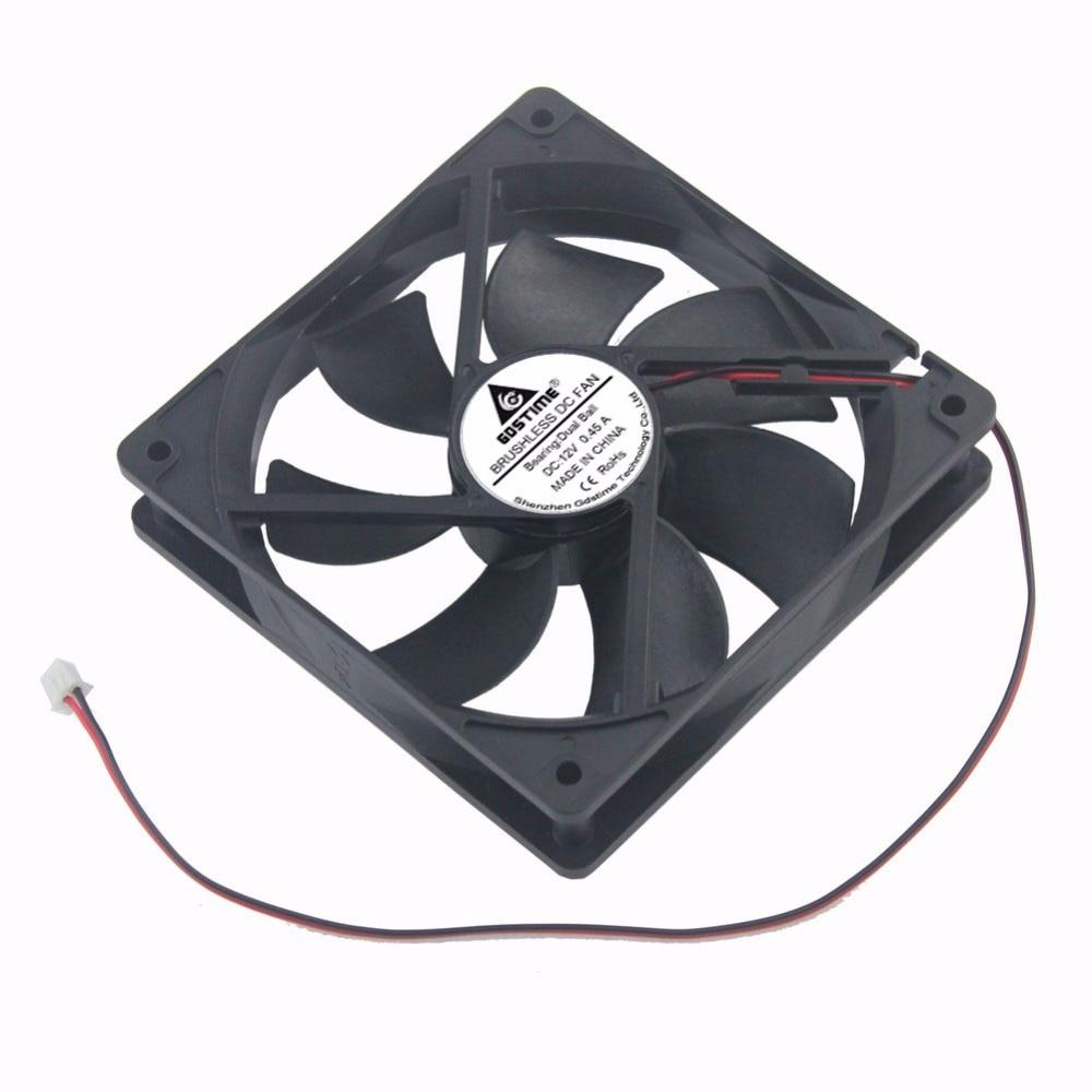 2 Pcs Gdstime 120mm x 25mm PC Case Cooler 12V DC Two Ball 12025B 0.45A Industrial Machine Cooling Fan 120x25mm 12cm 3300RPM