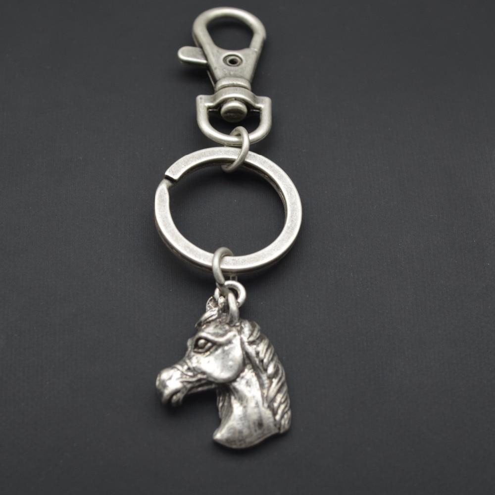 ¡Venta al por mayor! llavero con animal árabe, caballo, llavero para mascota encantador, antichapado en plata, regalo de cumpleaños, 12 unids/lote
