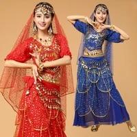 4pcs woman belly dance costume stage performance belly dancing clothes bellydance costume stage dance wear for women
