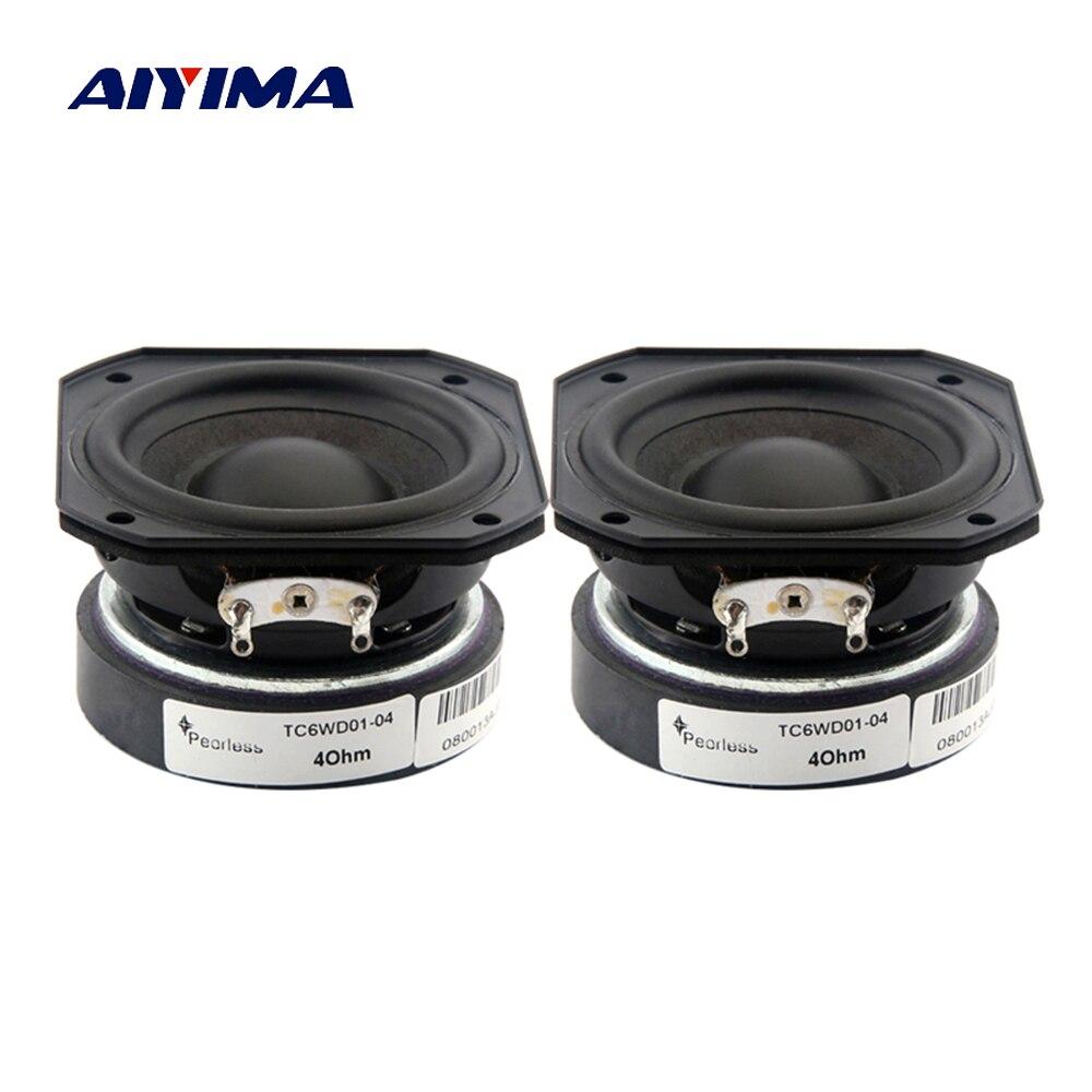 AIYIMA 2Pcs 2 Inch Full Frequency Speaker 55MM 4 Ohm 10-20W Audio Sound Speaker Treble Midrange Bass Loudspeaker DIY