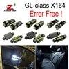 26 Uds aparcamiento ciudad lámpara + bombilla LED luz interior Kit completo para Mercedes-Benz Clase GL X164 GL320 GL350 GL420 GL450 GL500 (06-12)