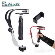 Stabilisateur vidéo portable caméra Steadicam stabilisateur pour appareil photo numérique HDSLR DSLR caméscope DV téléphone portable + gants