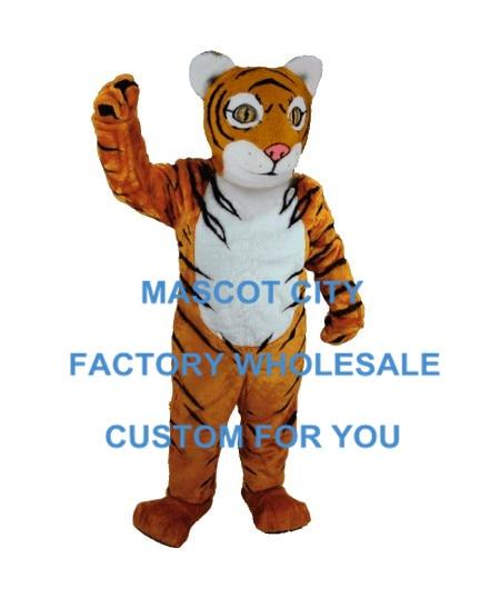 Custom made filhote de tigre traje da mascote animal da selva tema adulto tamanho mascotte outfit suit fit fancy dress festa de carnaval sw963