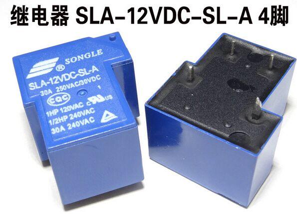 SLA-12VDC-SL-A 12VDC 30A DIP4 T90 SONGLE Relé 1 de un nuevo y original