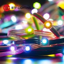 50 ledes/cadena WS2812B píxeles RGB LED módulo disipador de calor nodos direccionable individualmente con Bluetooth controlador de música DC5V