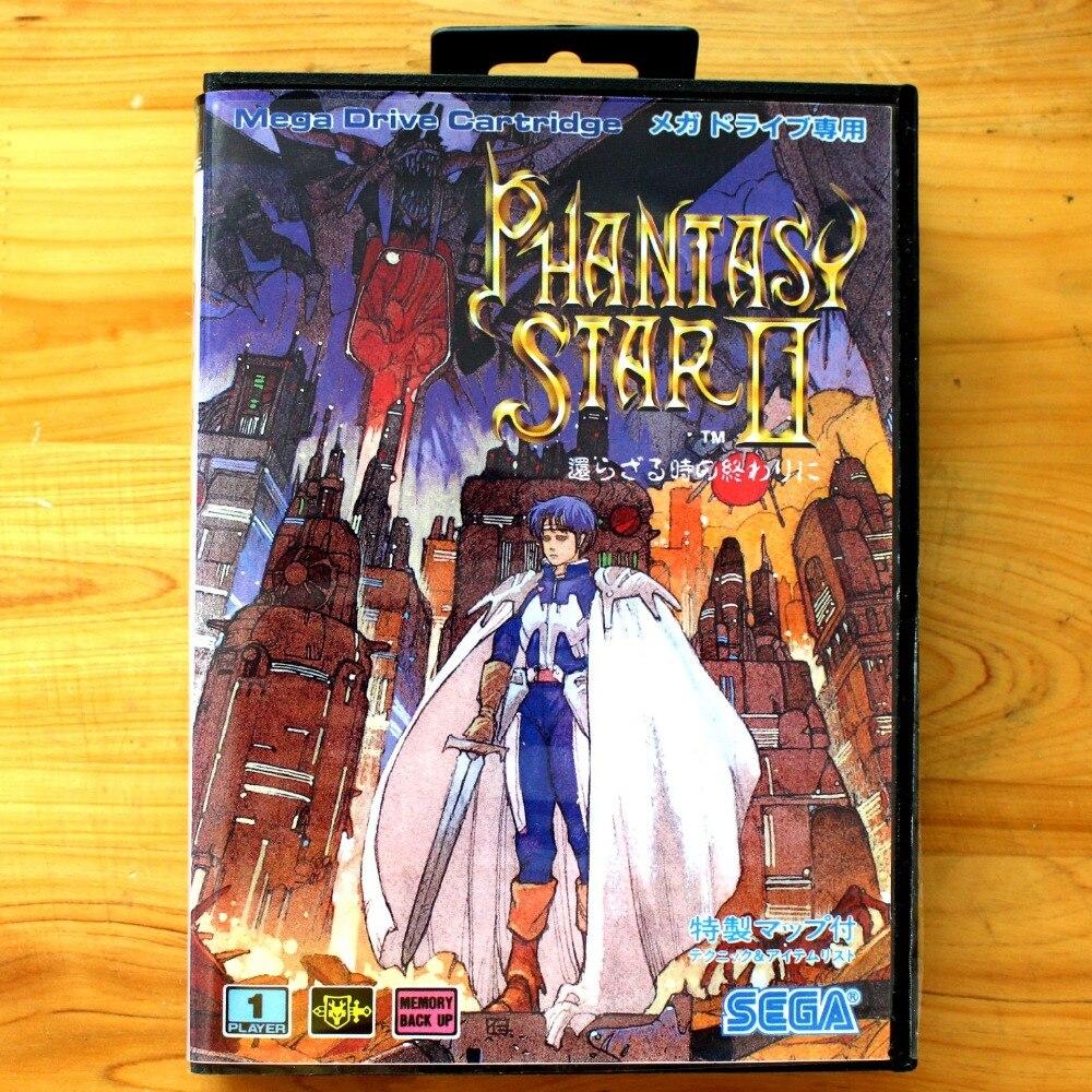 Phantasy Star II 16 poco SEGA tarjeta de juego MD con caja...