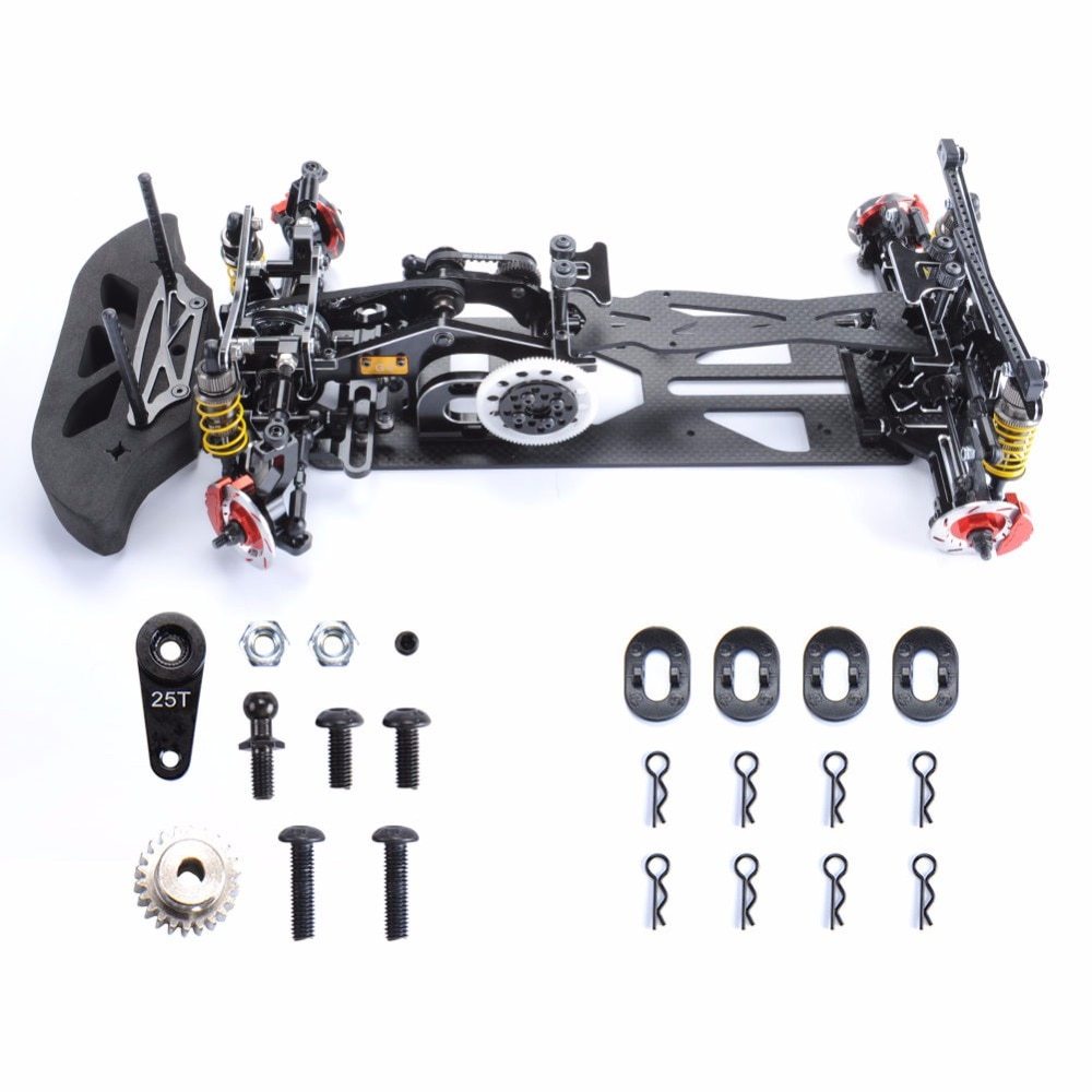 110 4WD Drift Red fibra de carbono RC coche de carreras Shft marco Kit chasis G4 Hotsa RC accesorios de coche de carreras