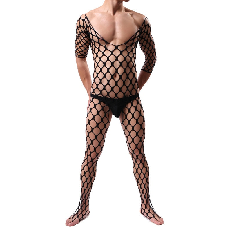 Lencería para hombres Sexy porno intimates caliente mono exótico ropa de dormir disfraces Sexy medias de red ropa interior