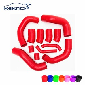 HOSINGTECH-for Nissan GT-R R35 09-17 Silicone Boost Hose Kit 12pcs red