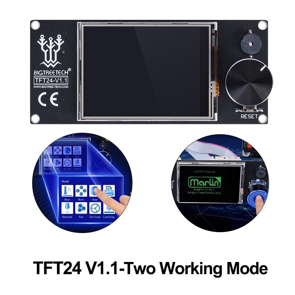 Bigtreetecg tft24 v1.1 tela sensível ao toque compatível 12864lcd display vs mks tft2.4 tft35 para skr v1.3 pro Ender-3 peças de impressora 3d