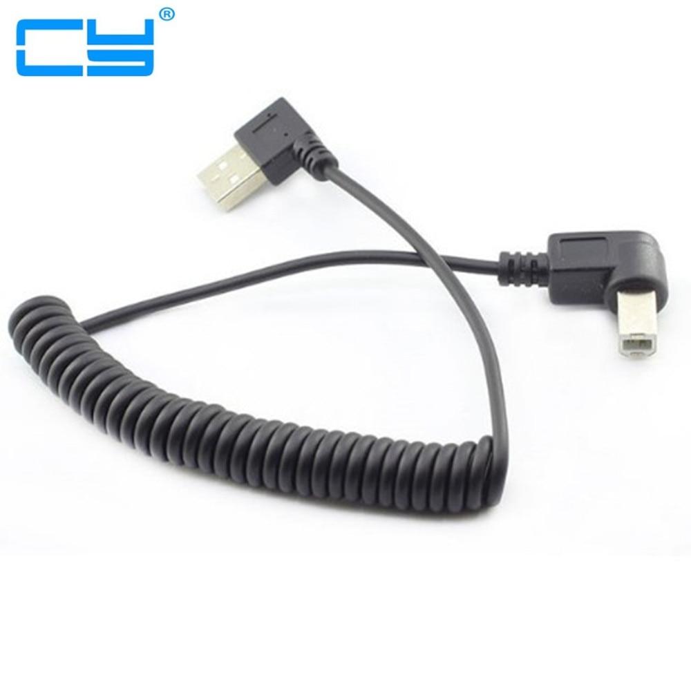 Câble de charge rétractable de données dangle droit de 40 CM à 100 CM/4ft USB 2.0 mâle à 4pin USB B pour imprimante et Scanner USB2.0