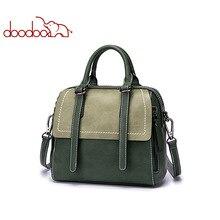 DOODOO Brand Women Handbags Female Shoulder Messenger Bags Artificial Leather Top-handle Bag Belt Tassel Design Elements Tote