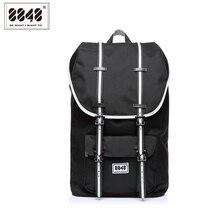 Hommes sac à dos noir sacs à dos dordinateur portable voyage doux dos sac à bandoulière imperméable Oxford matériel Plus capacité 20.6 L S15005-9 8848