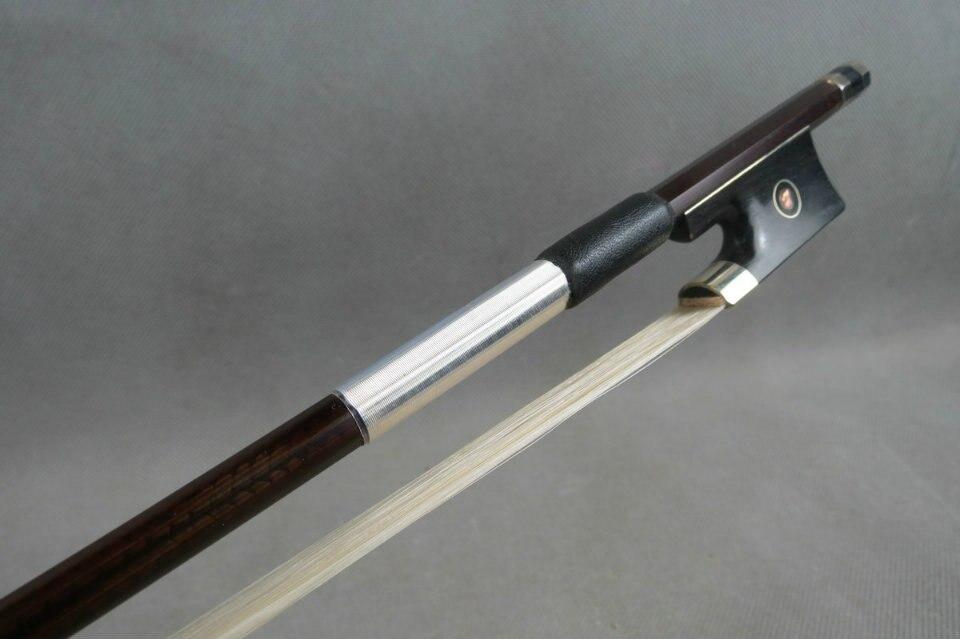 1 pcs high class color plaid black Carbon fiber violin bow 4/4
