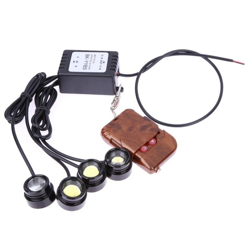 VODOOL Universal 6000K 4 en 1 12V 12W luces estroboscópicas DE EMERGENCIA LED DRL Kit de Control remoto inalámbrico accesorios de coche 16 patrones
