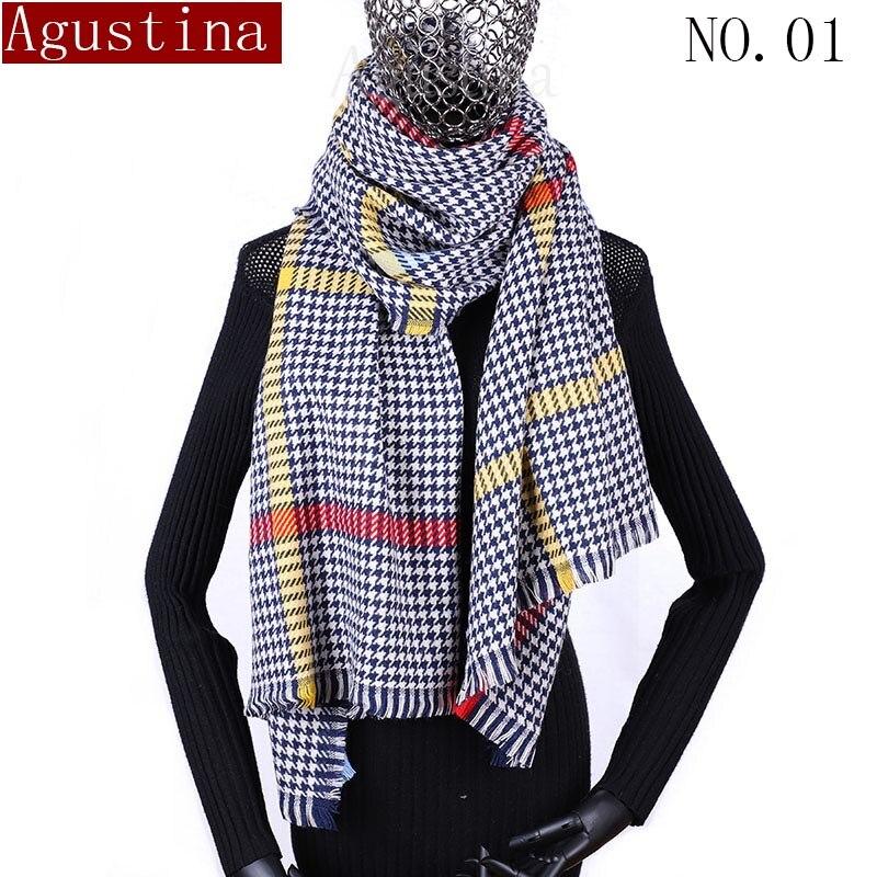 Bufanda bufandas, poncho de las mujeres de invierno hijab foulard mujer chal...