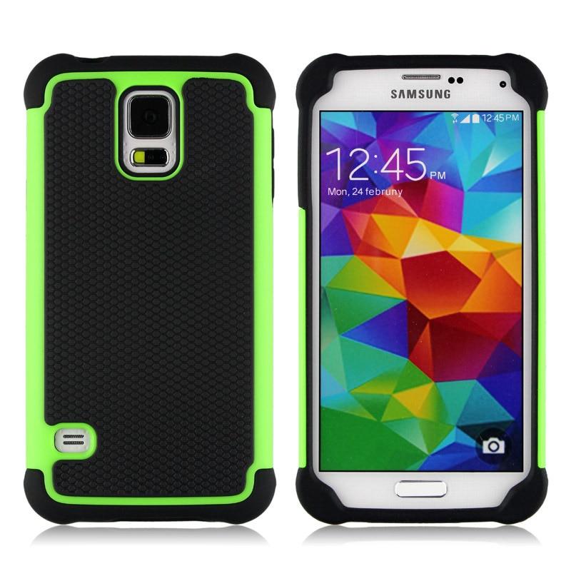 Funda armadura de plástico de grano de fútbol para Samsung Galaxy S5...