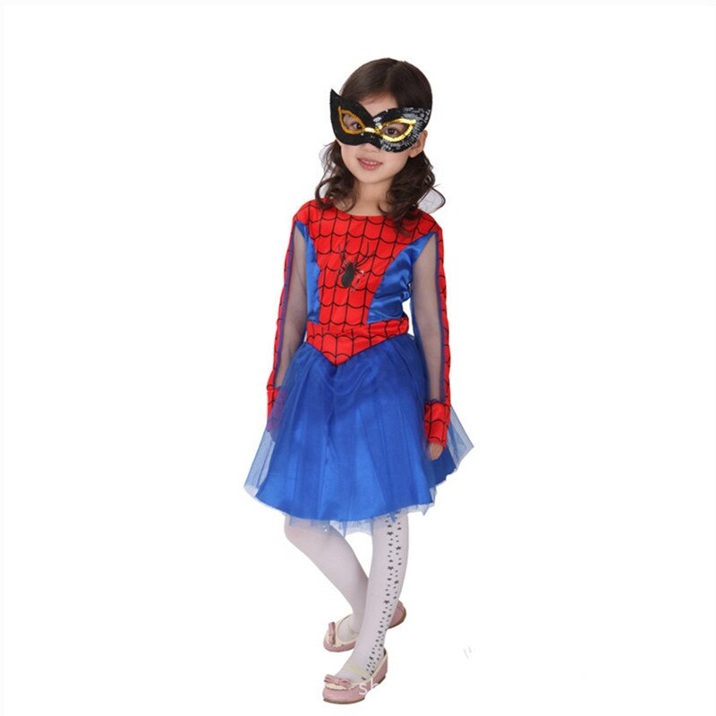 Spider Girls Spiderman Costumes for Children Girls Kids Halloween Party Dress Anime Cosplay Carnival Costume