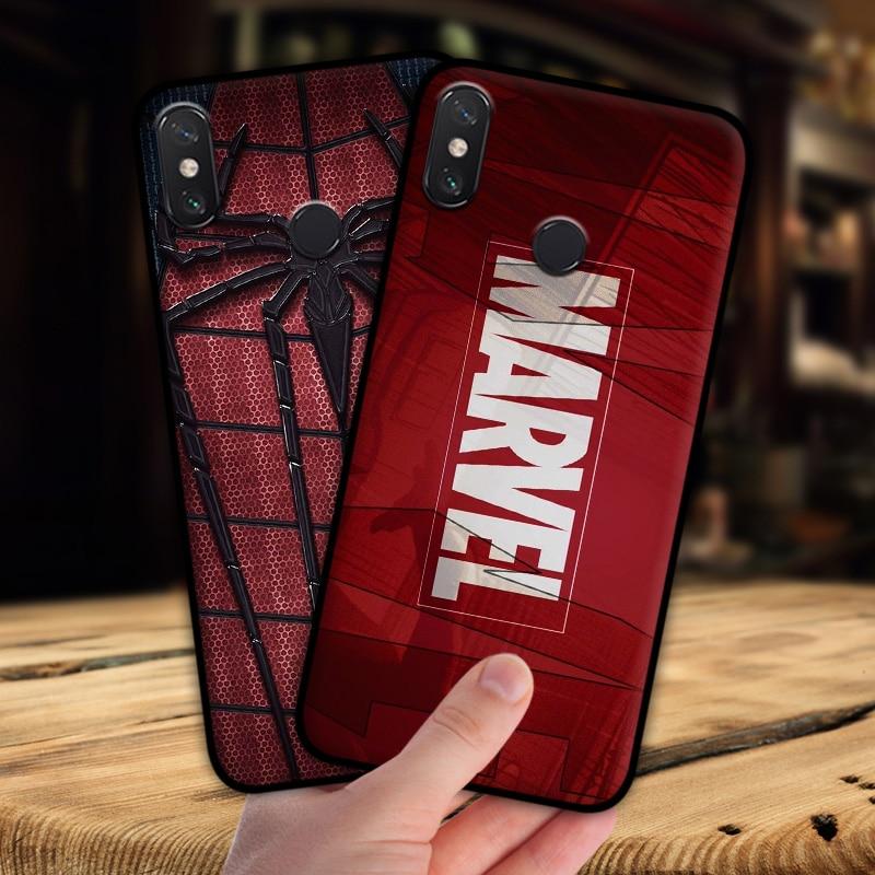 mosirui for Xiaomi Mi MAX3 case Marvel hero Deadpool Spiderman Black Panther Hulk Silicone soft shell black Matte Phone Case