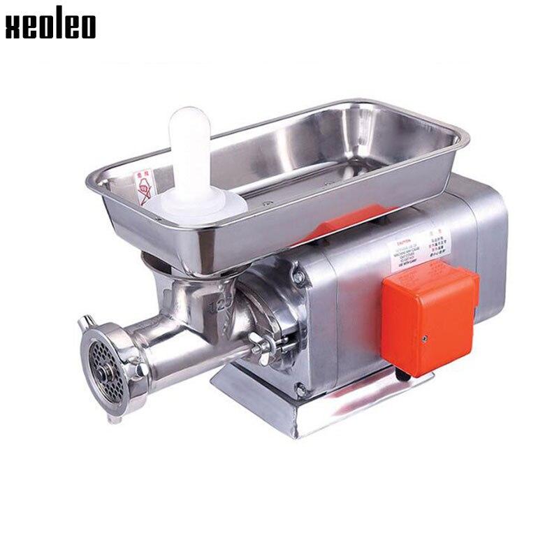 Trituradora de carne comercial XEOLEO, trituradora de carne congelada, Máquina Eléctrica de acero inoxidable para carne congelada 750W 120-150 kg/h