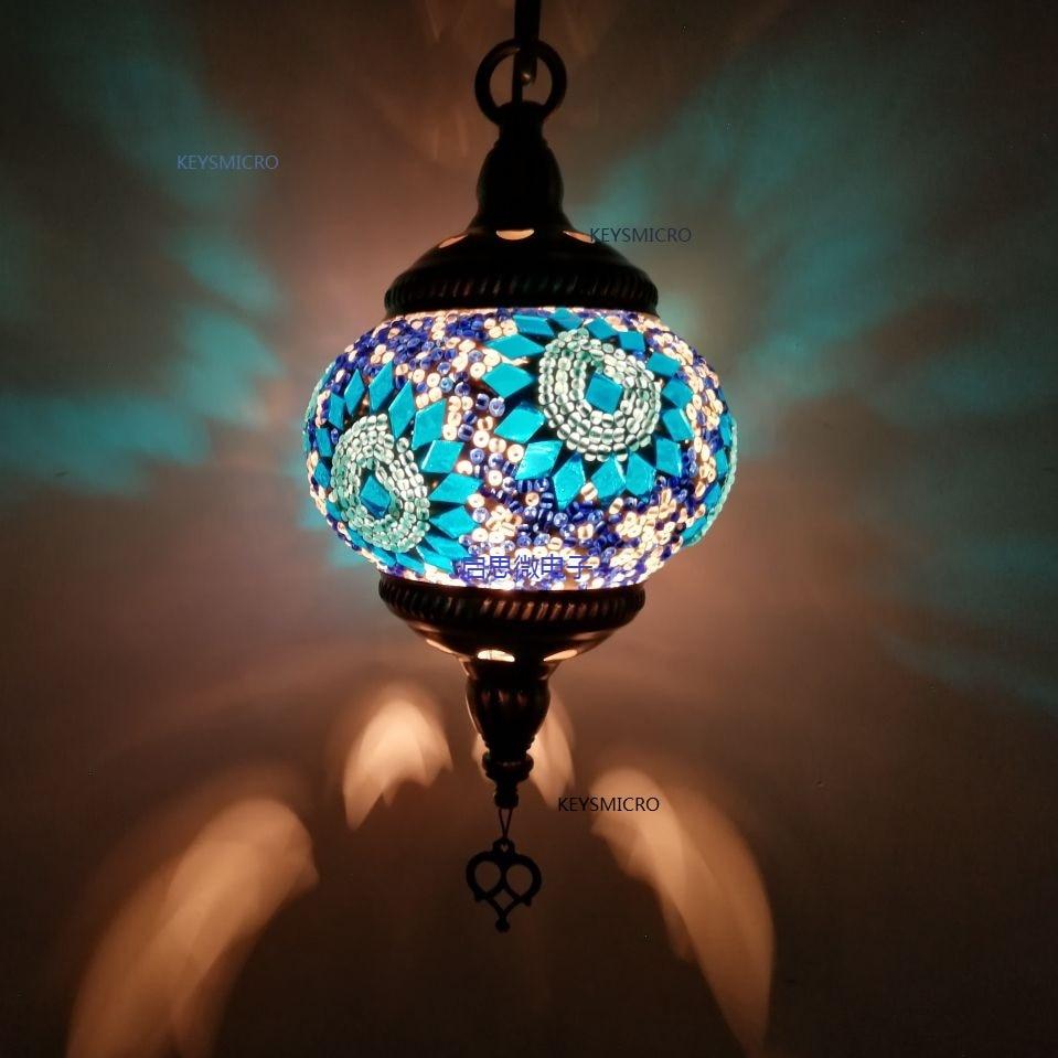 Новый стиль E14 Турция ручной работы романтический балкон коридор лестница подвесной светильник кафе ресторан бар Дерево подвесной светиль...