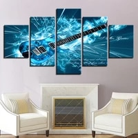 poster unframed hd wall art modular printed modern canvas 5 panel guitars music living room pictures home decor cuadros painting