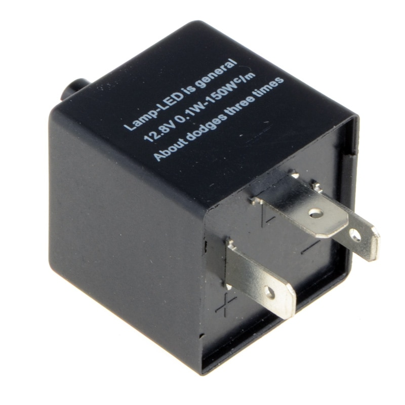 12V 3-Pins Adjustable Frequency LED Flasher Relay Motorcycle Turn Signal Indicator Motorbike Fix Blinker Indicator