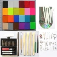 flexible durable strength valuable polymer clay gift set 24pc clay with free tools and accessories