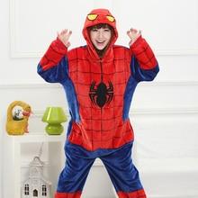 Adulto Anime Kigurumi Tute monopezzo Spiderman Costume Delle Donne Del Fumetto Sveglio Animale Bunny Pigiami Onepieces Indumenti Da Notte A Casa Panni Della Ragazza