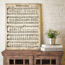 Mübarek Güvence duvar sanatı tuval yağlıboya Resimleri Vintage Müzik Posterler ve Baskılar Antika Hymn Tırnaklar ev duvar dekoru