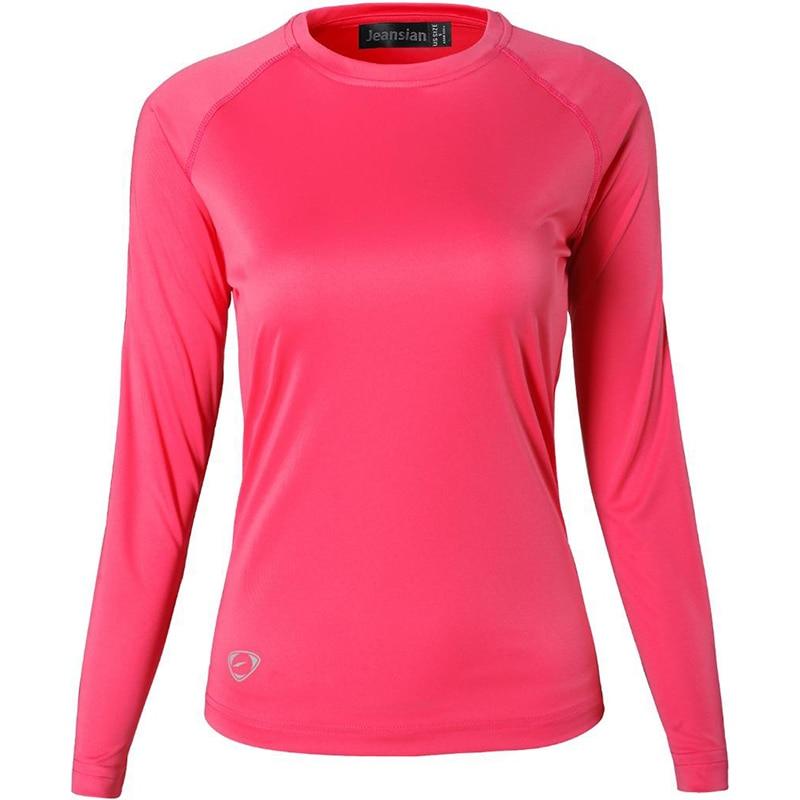 AliExpress - Jeansian Womens UPF50 + UV Outdoor Sport Tee Shirt T-Shirt Tshirt Long Sleeve Sun Protection Beach Summer SWT246 Red