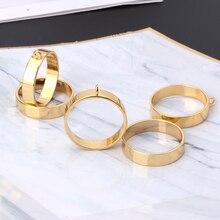5 pces round framework aberto volta bezels pingente espaços em branco para fazer jóias de resina
