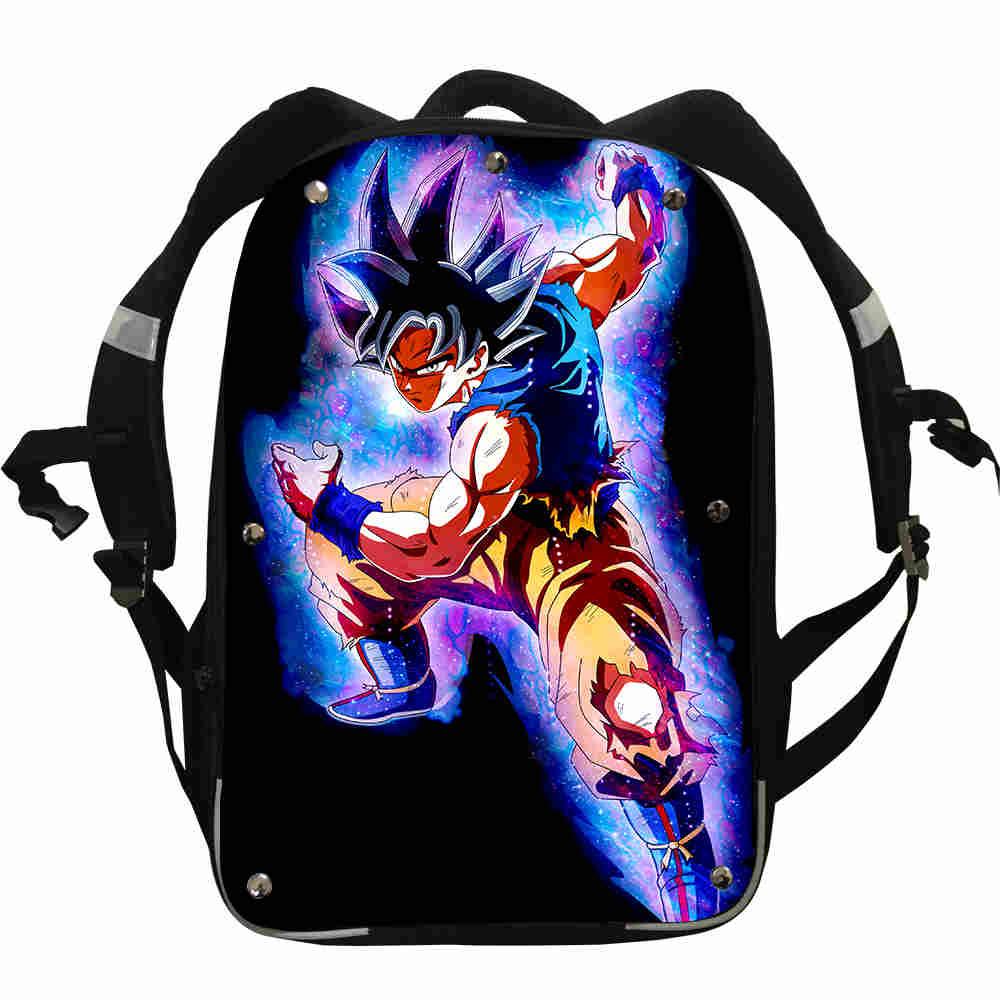 Dragon Ball Ultra Instinct Son Goku Super Saiyan mochilas niños niñas adolescentes mochilas escolares Bolsa almuerzo Pencil Box