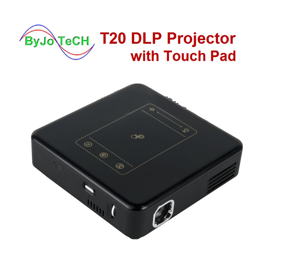 ByJoTeCH T20 DLP Proyector con panel táctil Pico Android 7,1 Proyector WIFI...