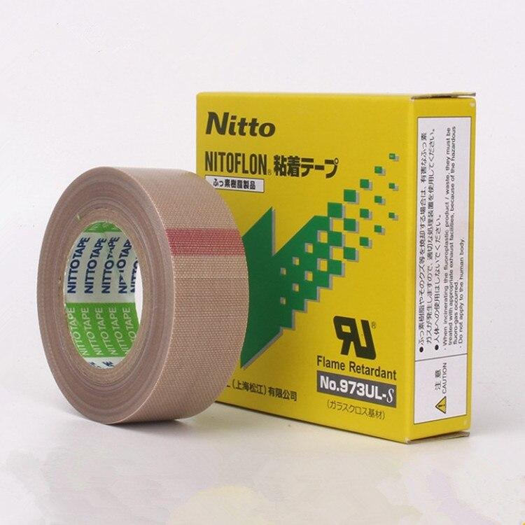 3 tipos de tamaño 10 Uds T0.13mm * W(13mm 19mm 25mm)* L10m Japón NITTO cinta DENKO NITOFLON único impermeable cinta de 973UL-S