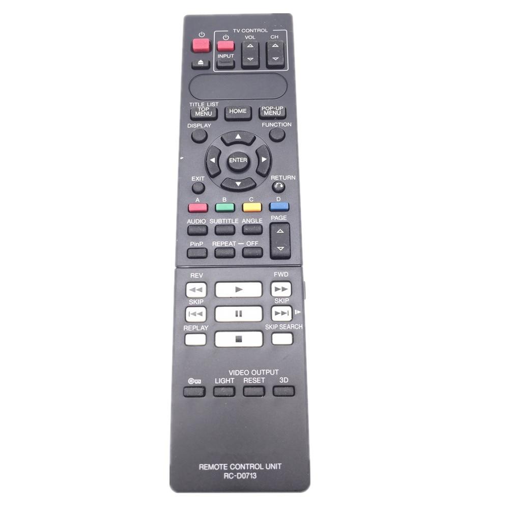 Control remoto RC-D0713 para reproductor de DVD Blu-ray Kenwood BD-7000