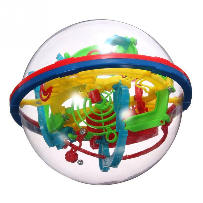 Cor aleatória 100 rodadas 3D 12 cm de Educação Precoce Do Bebê Brinquedo Bola Labirinto Bola Intelecto Educacional das Crianças Brinquedos Do Bebê puzzle Brinquedos