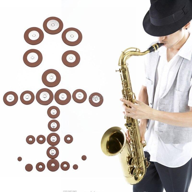 Альт саксофон SAX Замена Woodwind коричневый Fuax Кожа колодки 25 шт./компл. Прямая поставка поддержка