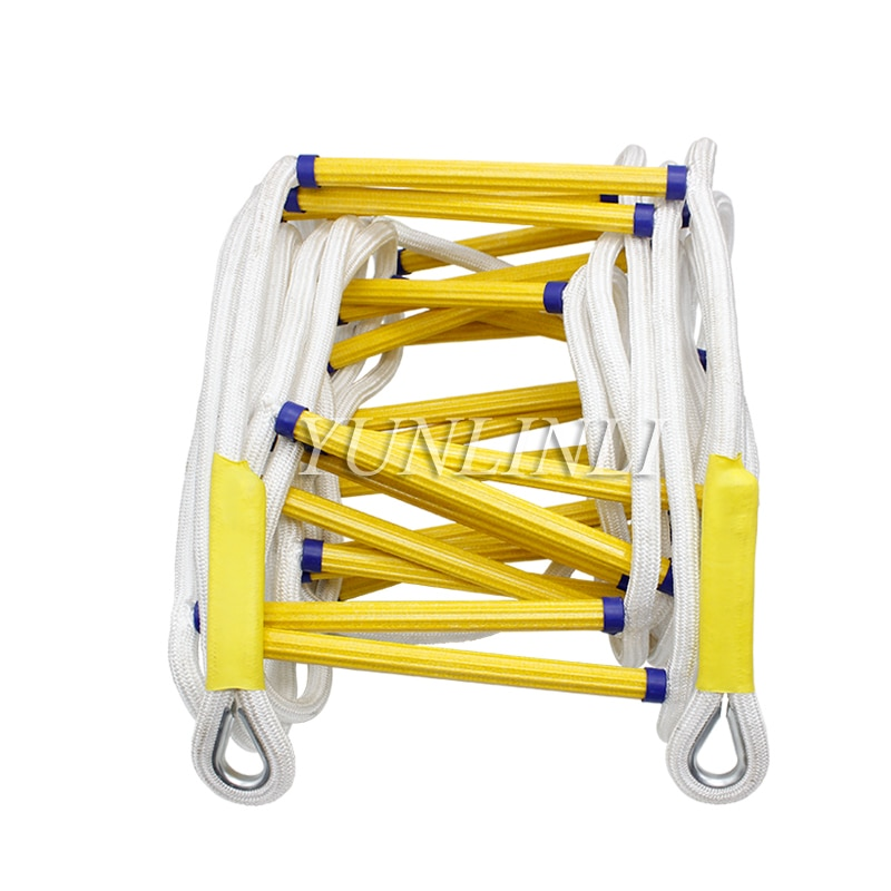 Фото - 15M Rescue Rope Ladder Fire Escape Ladder Emergency Work Safety Response Fire Rescue Rock Climbing Escape Aerial Work Rescue rescue team