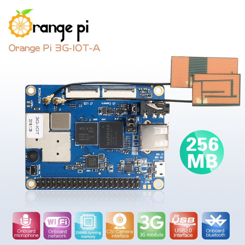 Orange Pi 3G-IOT-A 256MB Cortex-A7 512MB EMMC Поддержка 3G sim-карты Bluetooth Android4.4 mini PC