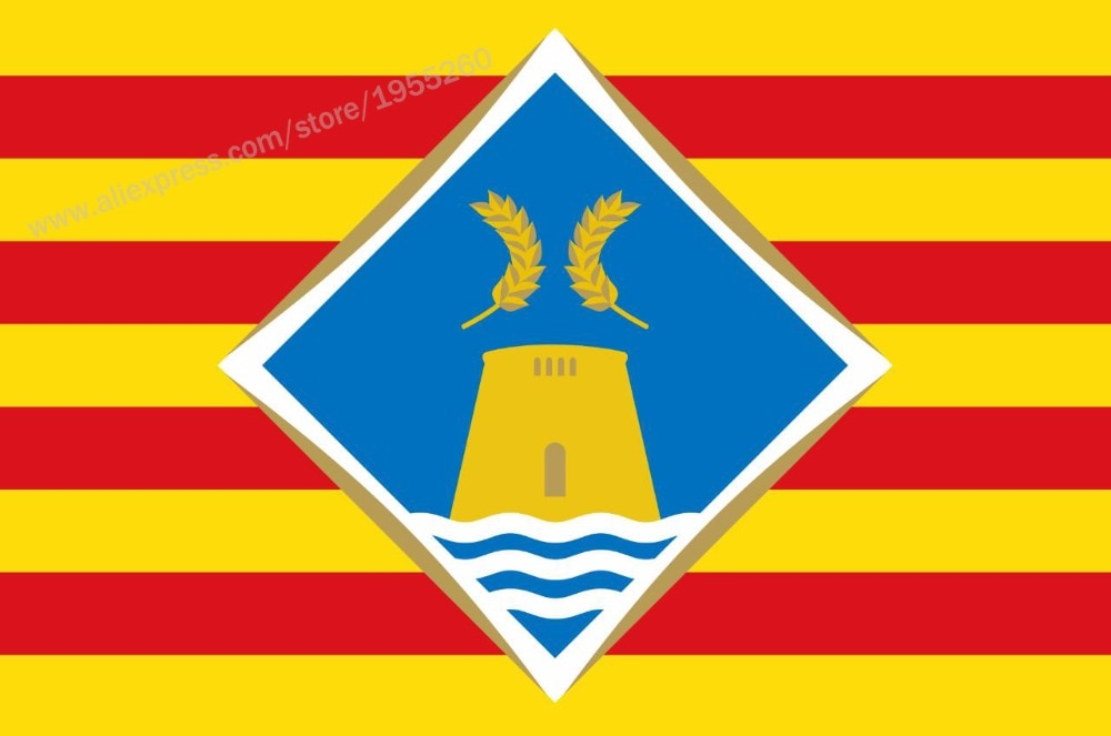 Flag of Formentera Balearic Islands 3 x 5 FT 90 x 150 cm Spain Flags Banners