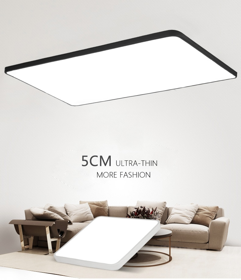 DX-مصباح سقف Led مربع رفيع للغاية مع ضوء أبيض دافئ ، مصباح سقف حديث لغرفة المعيشة أو قاعة النوم