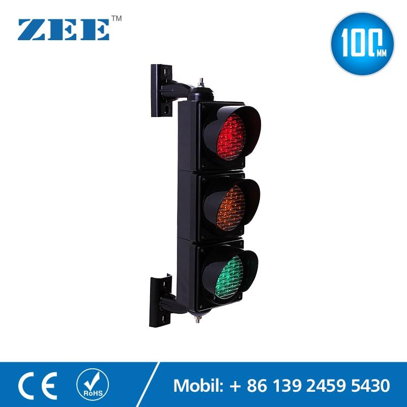 Светодиодная лампа светофора 100 мм, красный, желтый, зеленый сигнал дорожного движения, парковочный сигнал, сигнал для детей, детский сад, об...