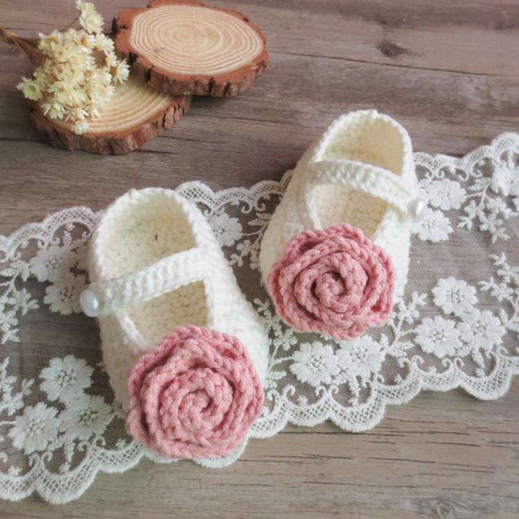 Qyflyxueqyflyxue-artesanal crochê algodão sapatos de bebê feitos à mão. Multicolorido pode ser personalizado