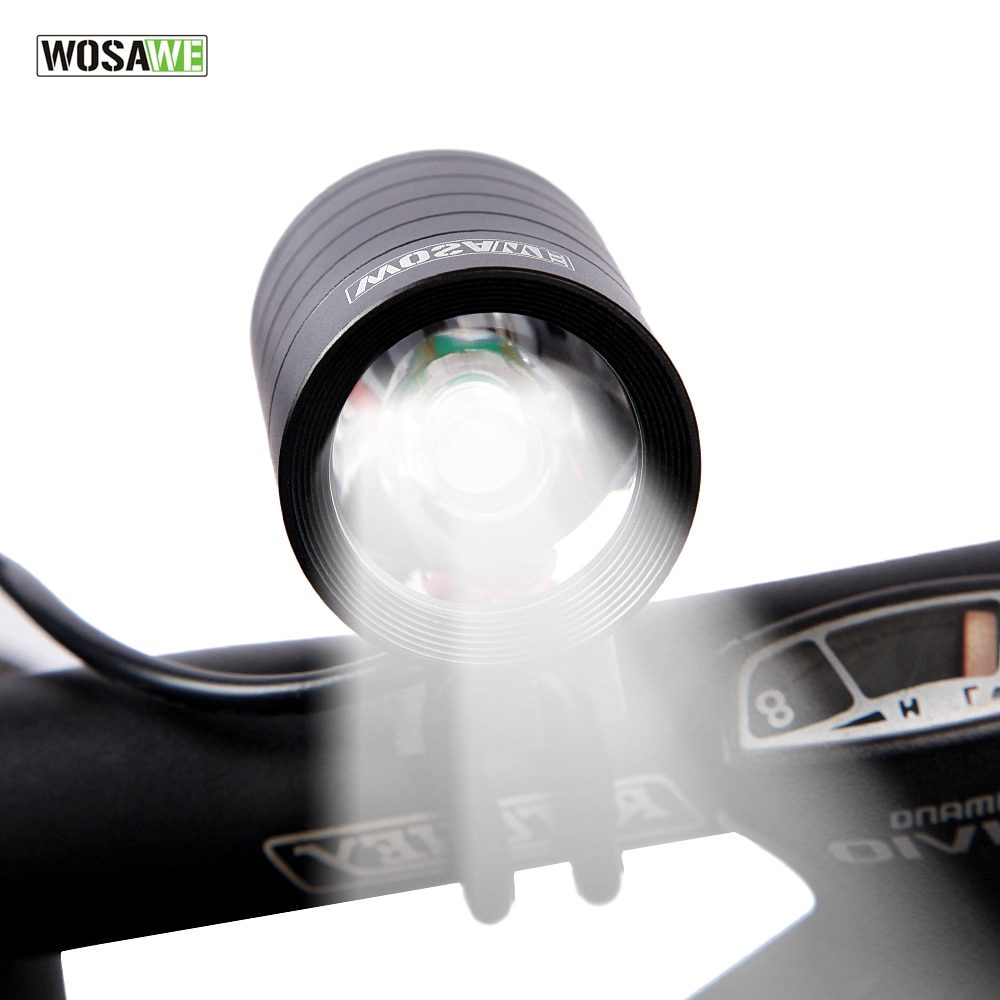 WOSAWE 1200 Lumen XMK T6 las luces de la bicicleta de la lámpara impermeable LED bicicleta luz delantera de la bicicleta linterna con USB + Cable DV